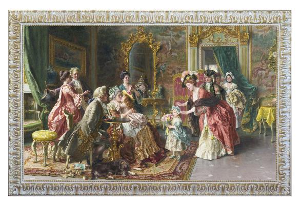 cornice-146x96-con-famiglia-nobile